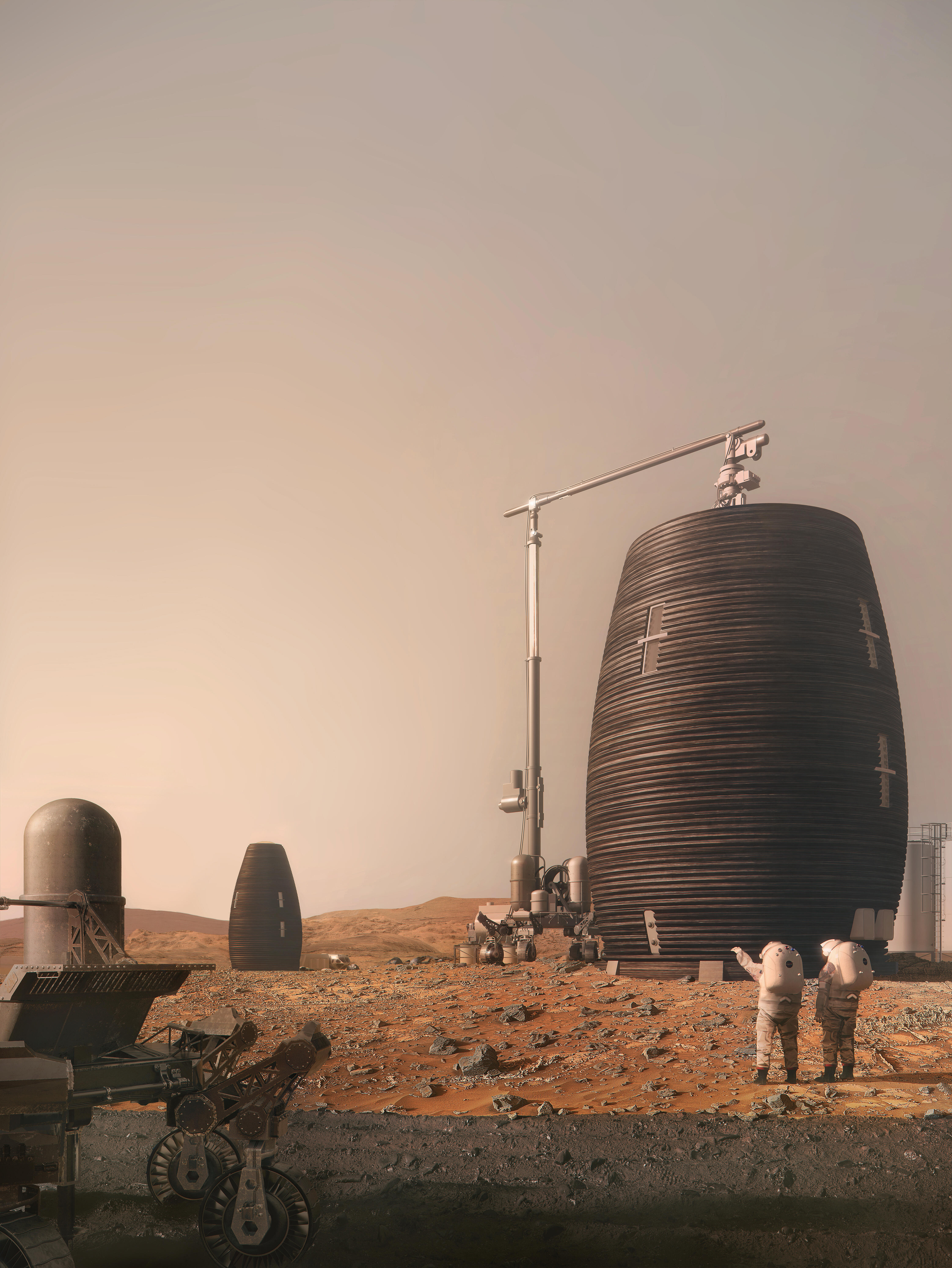 3D-printed from Martian rock