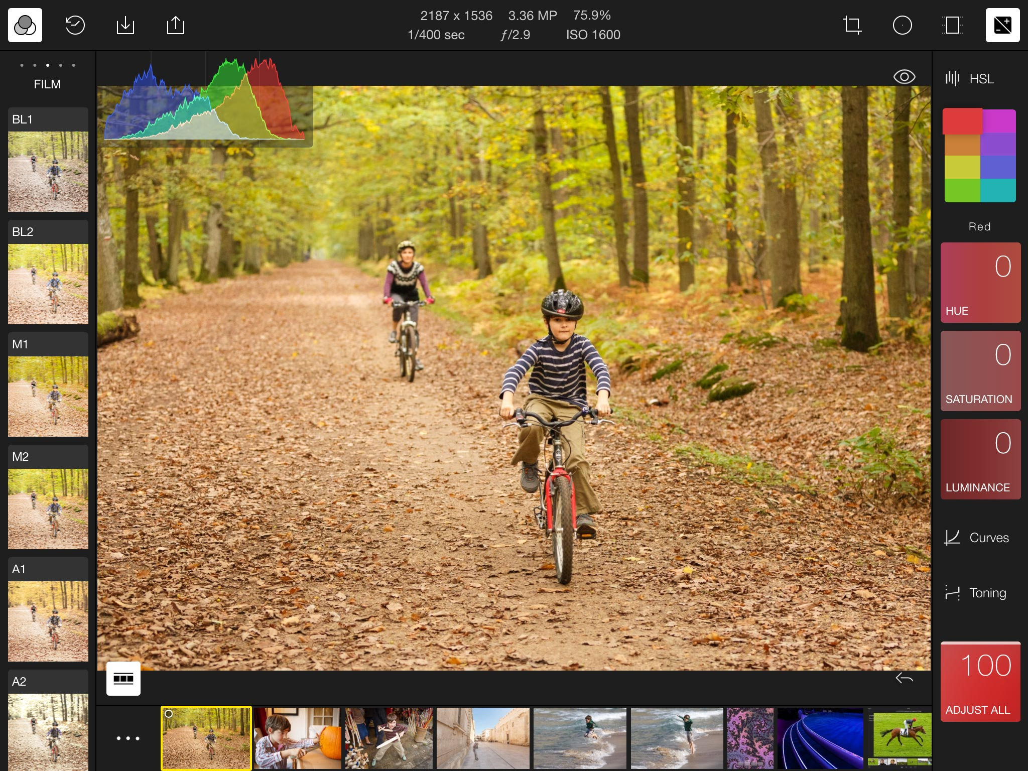 The Polarr image editor for iOS is built using the same Web technologies used by websites.