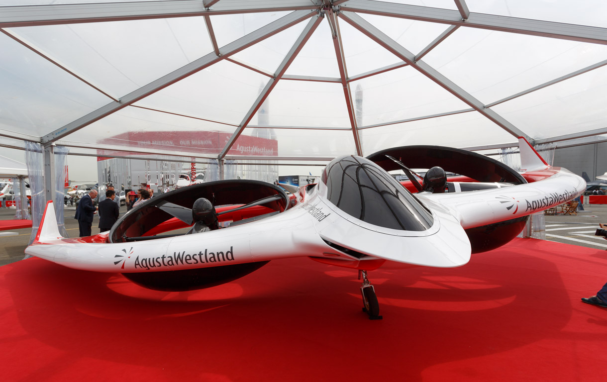 AgustaWestland's Project Zero is an all-electric tiltrotor. The aviation company showed it off at the Paris Air Show.