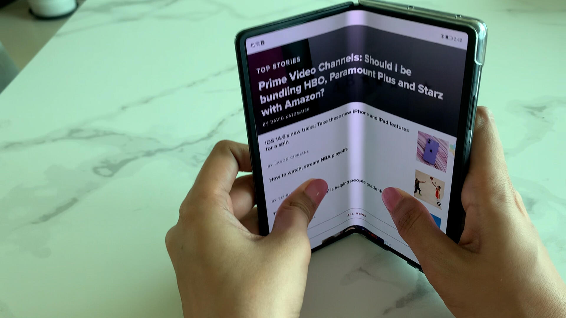 Video: Huawei Mate X2: What it's like using the nearly $3,000 foldable phone