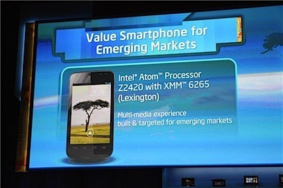 At CES 2013, Intel announced the Lexington smartphone platform  -- the design that Safaricom is using for Yolo