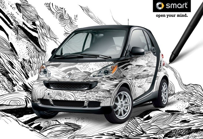 The winner of Smart's Skinned Smartly custom wrap contest will be on display at the 2010 Los Angeles Auto Show before heading out on the Smart Streets Tour.