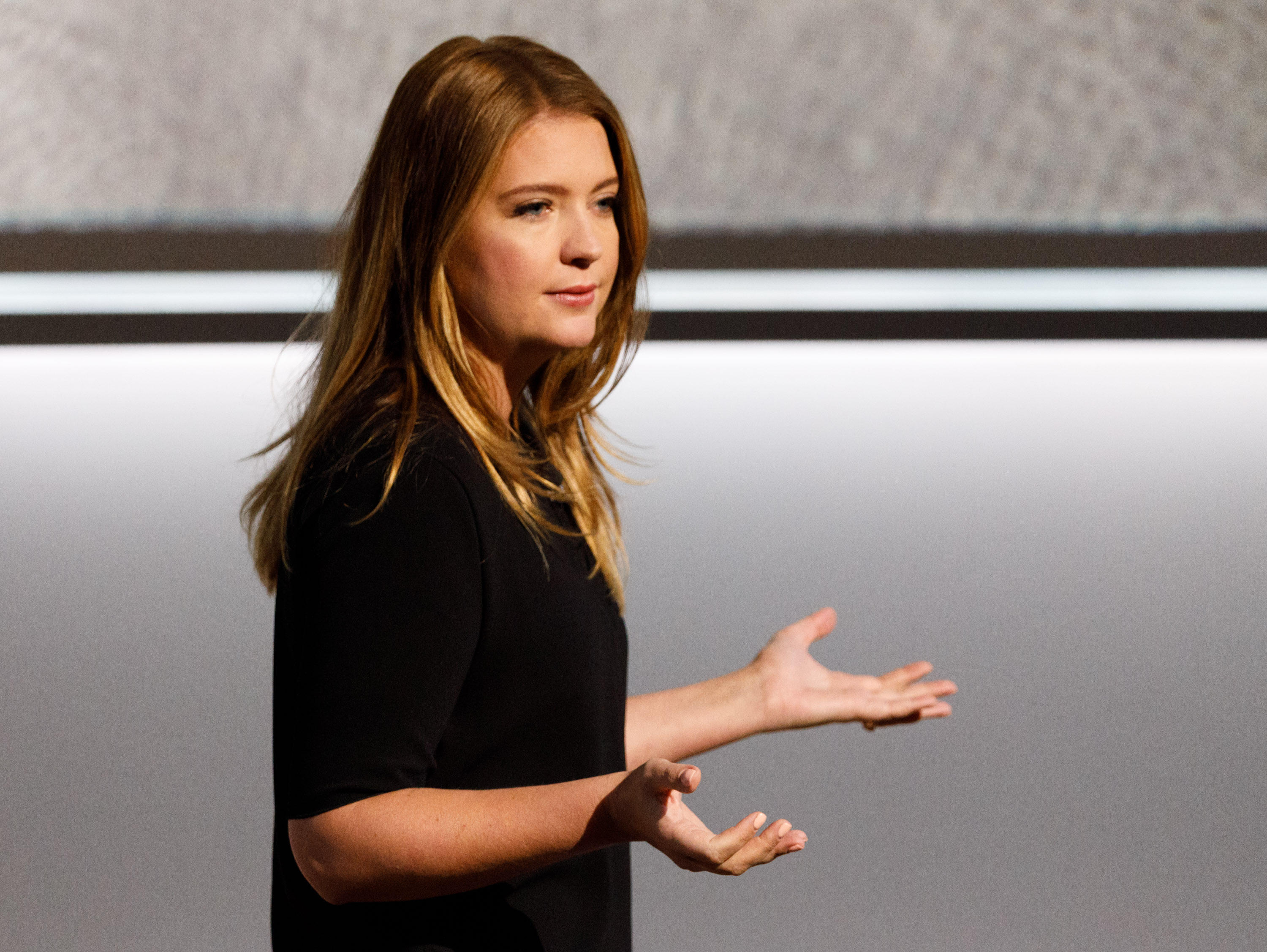 Isabelle Olsson, Google's lead designer for home hardware, was one of four women presenters at Google's Pixel event on Wednesday.