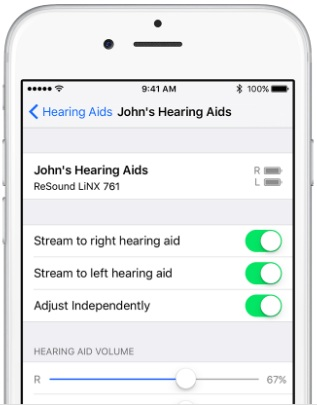 Apple's Made for iPhone technology lets people control hearing aids through an iOS device.