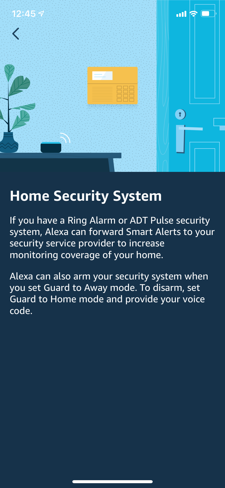 Sync with home security