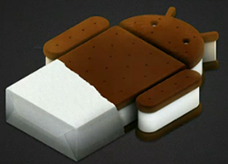 Google's official Android Ice Cream Sandwich logo.