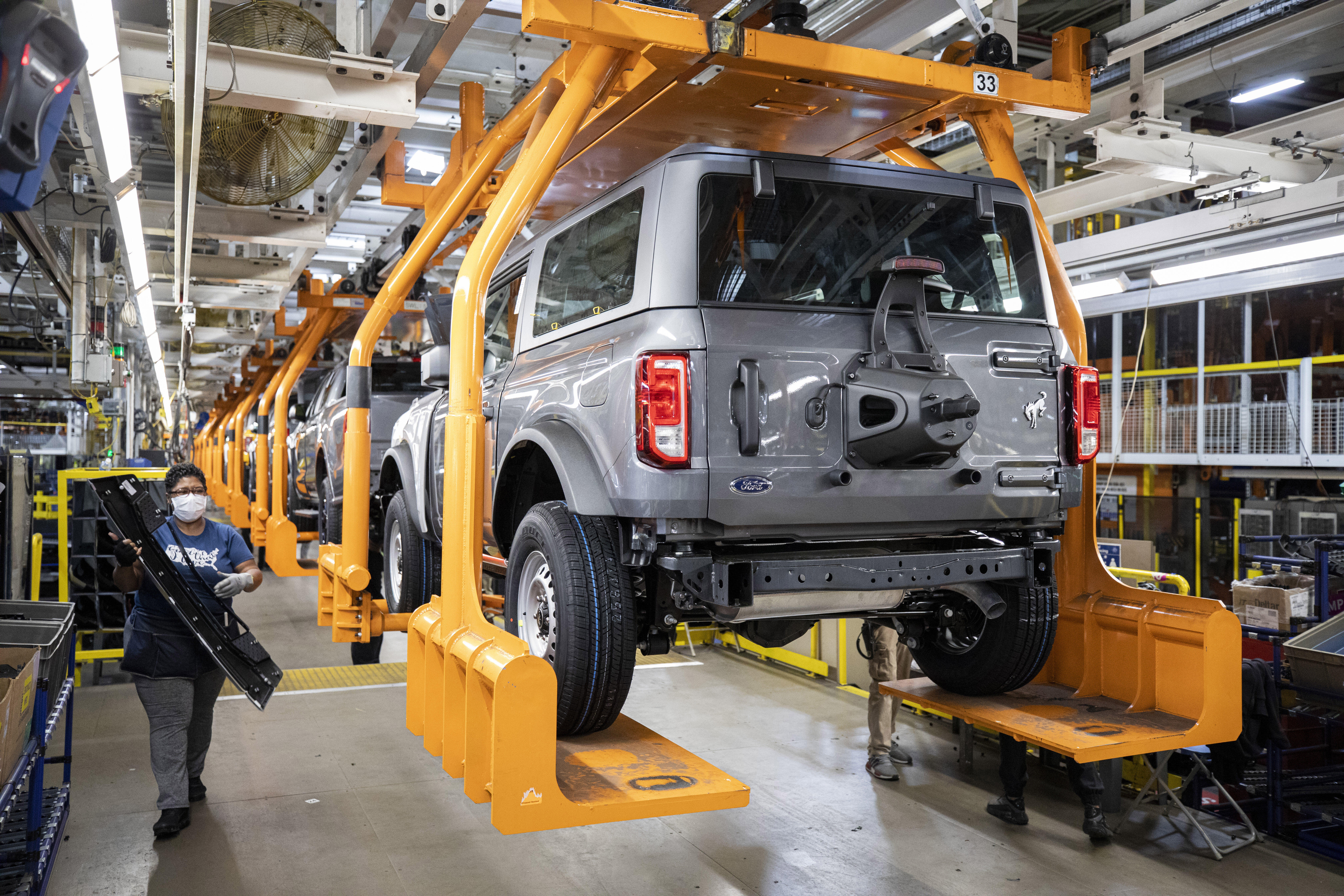 2021 Ford Bronco production line