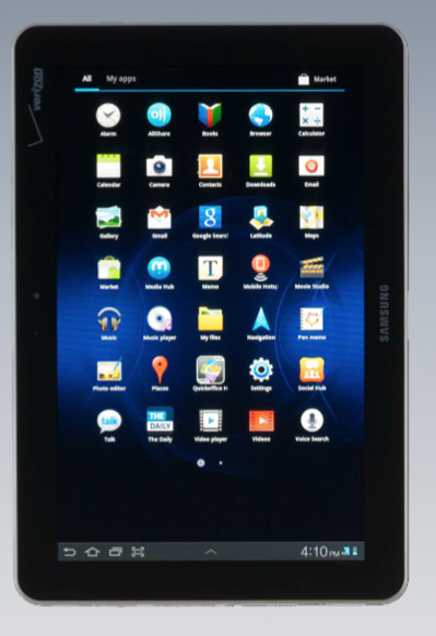 Samsung's 4G-enabled Galaxy Tab 10.1, on Apple's spillover hit list for sales bans.