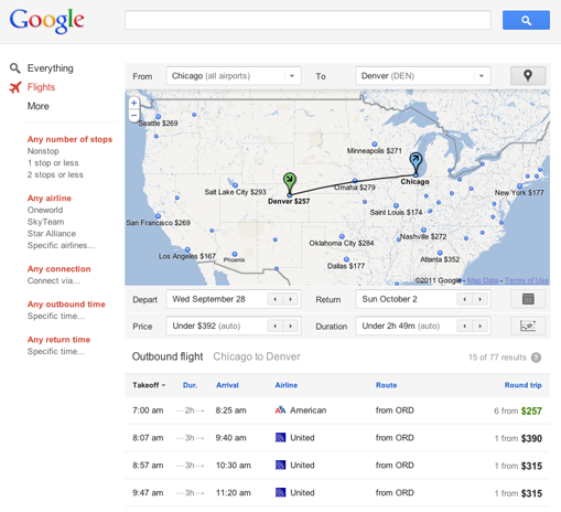 Google is rolling out a new flight search feature.
