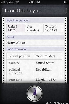 Who was vice president in 1873?