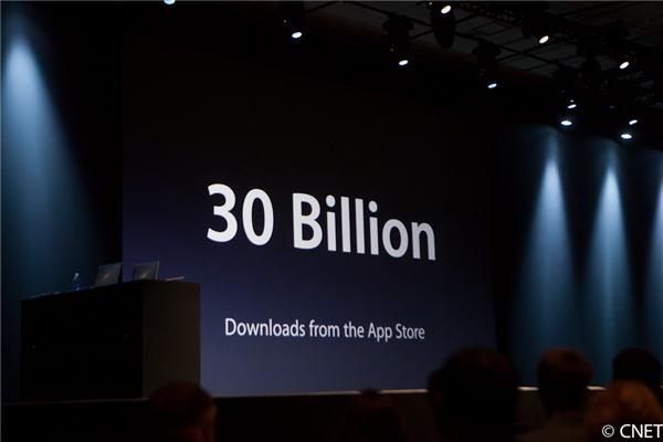 Apple's users have downloaded 30 billion apps from its App Store.