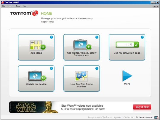 Install and run TomTom Home