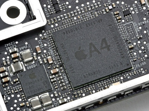 Apple A4 chip is the same as the iPad's.