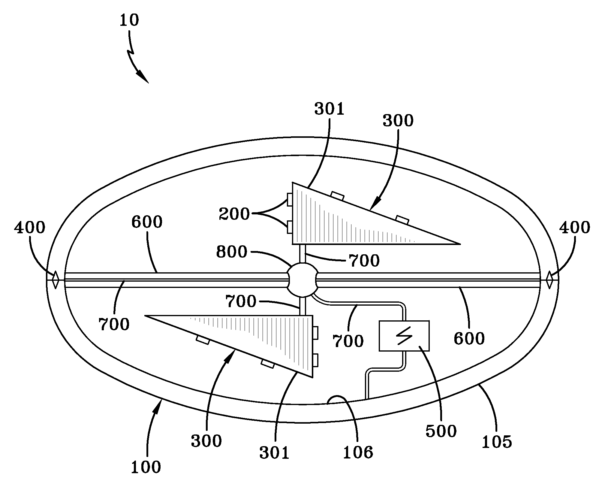 Patent illustration for a seemingly impossible spacecraft