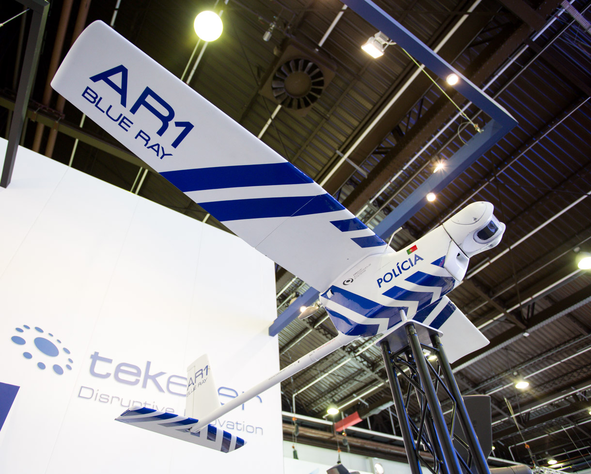 Building an EV powerful enough to carry people is difficult, but not all aircraft have a human payload. Tekever's AR1 Blue Ray is designed to carry a camera for police. The company's bigger unmanned aerial vehicles use conventional liquid fuels.