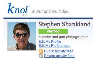 Google's largely unsuccessful Knol site still shows if an account holder's identity has been verified.