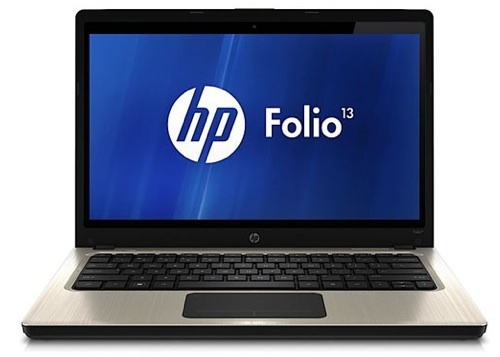 The 0.7-inch thick HP Folio 13 ultrabook sports a 128GB solid state drive