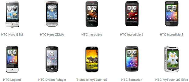 The CyanogenMod version of Andrdoid supports dozens of phones, including these from HTC.