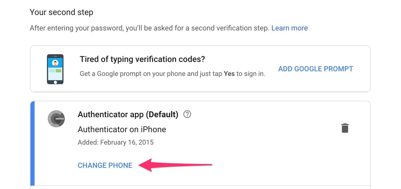 google-authenticator-change-phone