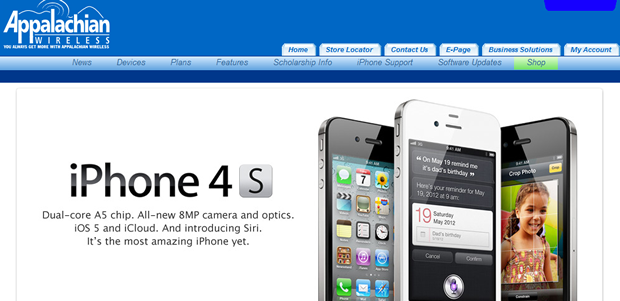 Appalachian Wireless is one of five regional carriers offering the iPhone starting today.