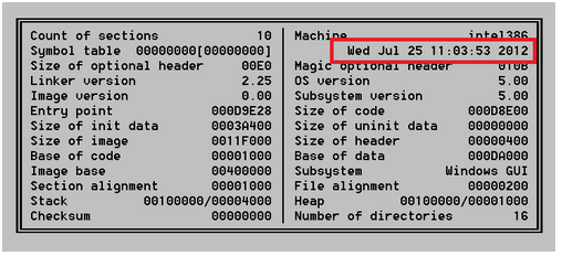 This is a screenshot of the header for the new version of Mahdi that appears to have been compiled today.