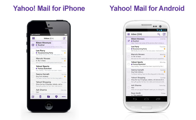Yahoo Mail on iPhone and Android