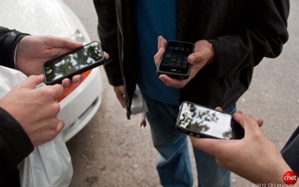 iPhone 4 buyers on launch day in 2010.