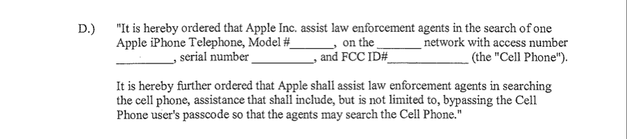 If you're a cop, how to force Apple to unlock an iPhone. Click for larger image.