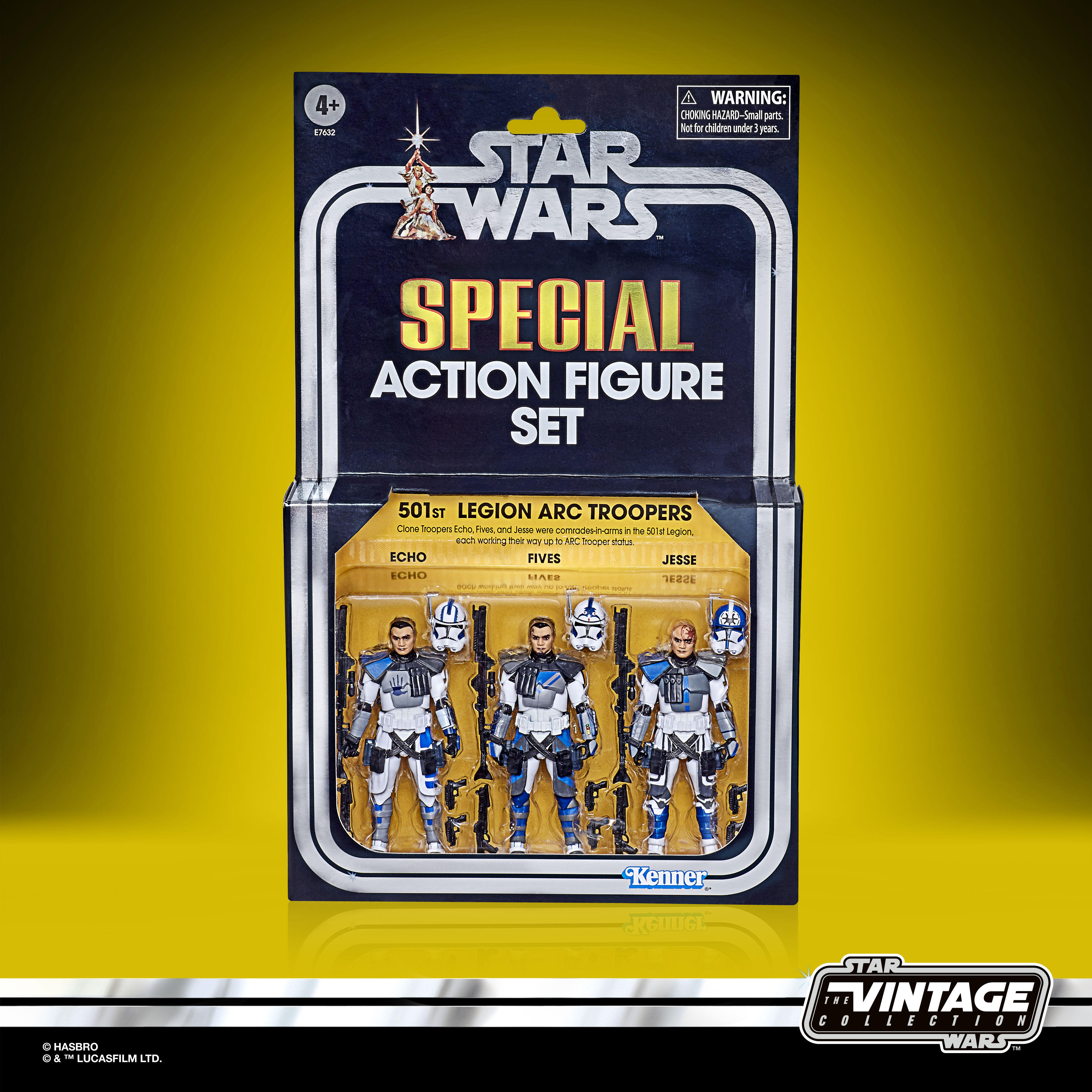 The boxed Vintage Collection 501st Legion Arc Troopers
