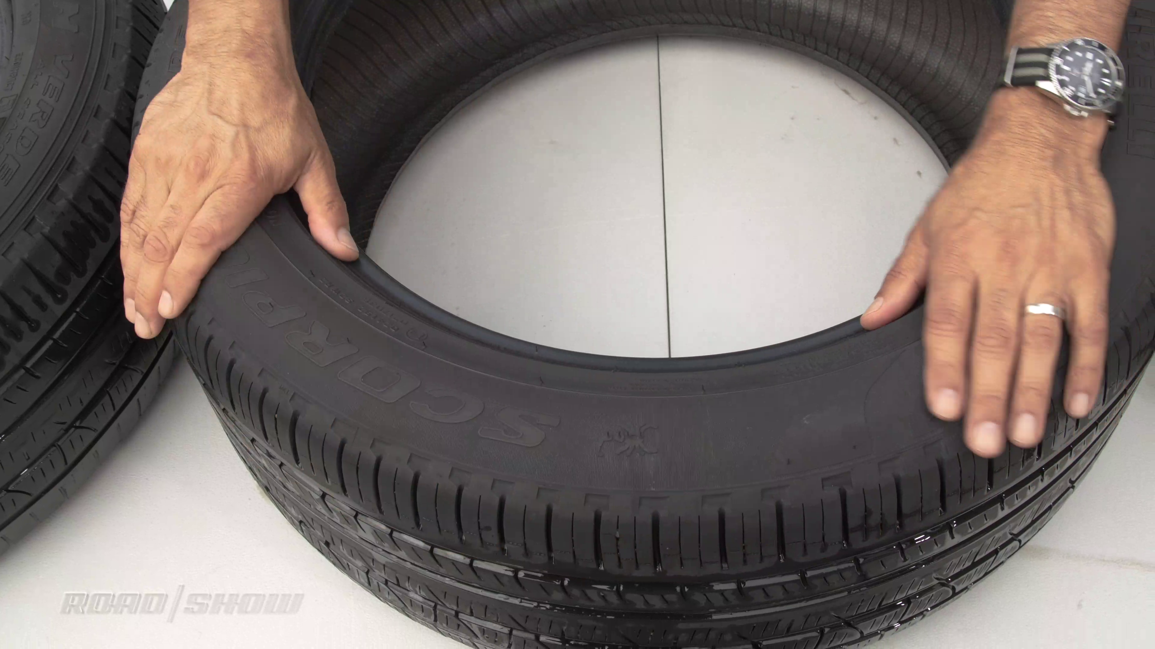 clean dry tire