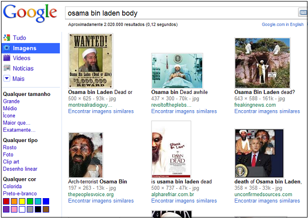 Results in Google image search in Spanish related to the death of Osama bin Laden were hiding malware, Kaspersky Lab says.