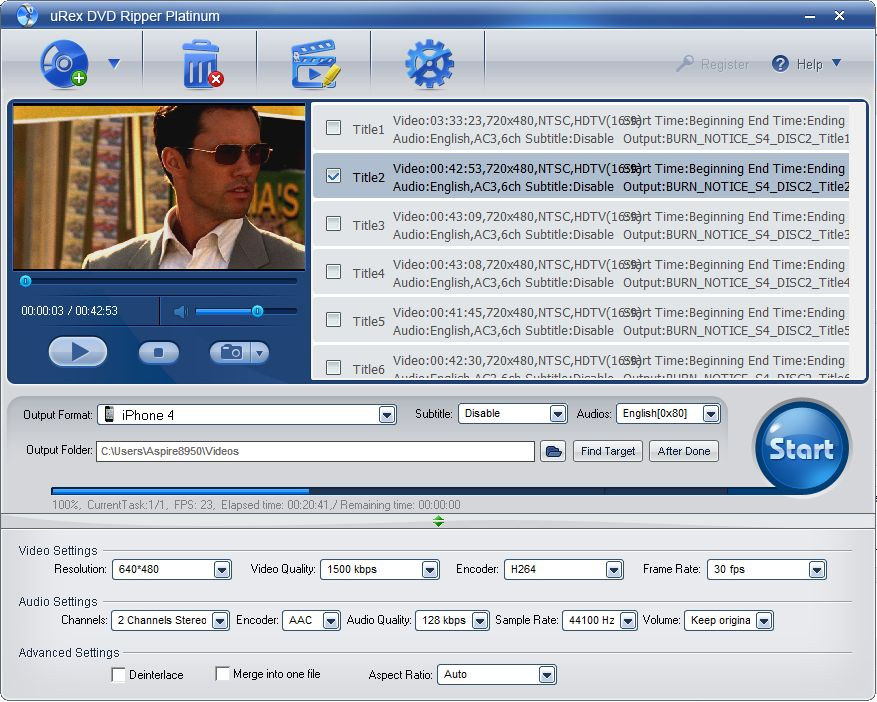 Convert your DVDs to media files with uRex DVD Ripper Platinum, which is currently available free of charge.