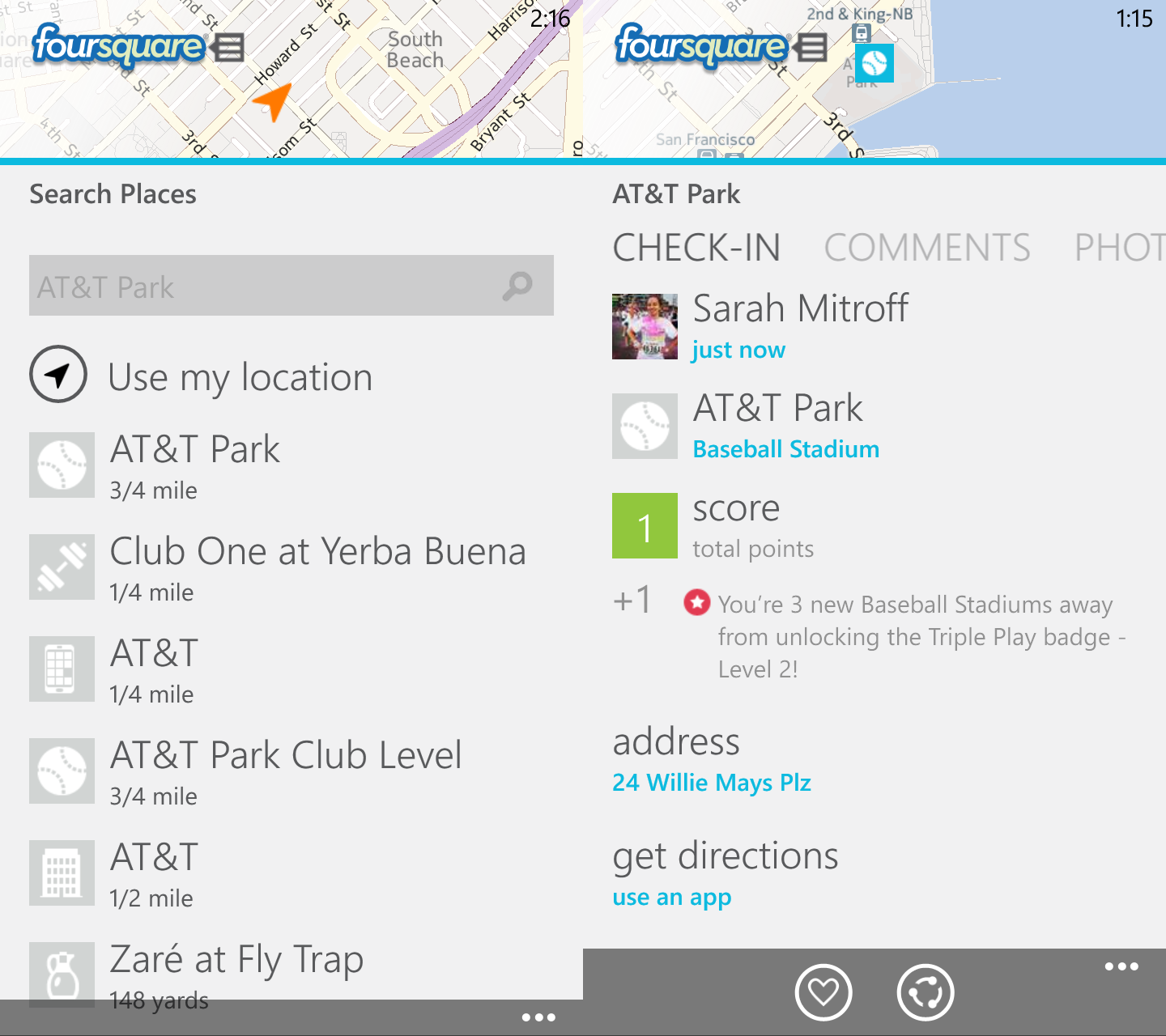 Foursquare (Windows Phone)