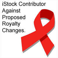 This avatar is used to protest iStockphoto's royalty-rate changes coming in 2011.