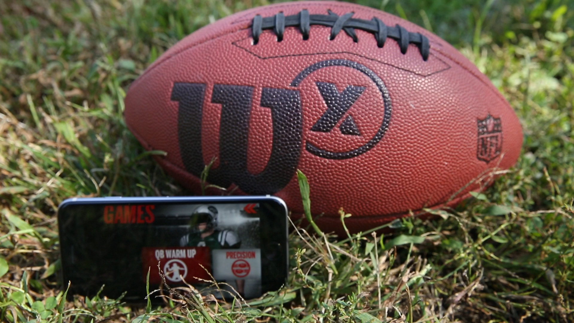 Video: Playing catch with the Wilson X Connected Football