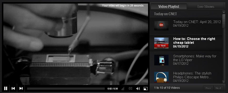 Image: Your video will begin in 28 seconds.