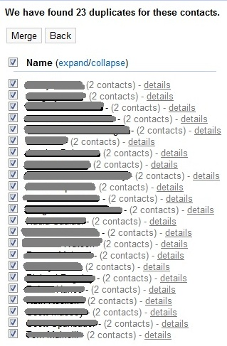 Google Contacts auto-merge feature