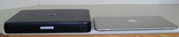 2003 HP business notebook and MacBook Air