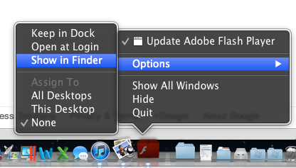 Locating the installer in the Finder