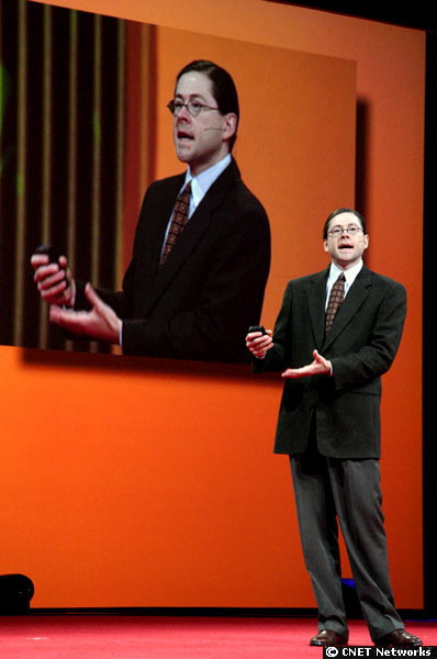 Jonathan Schwartz, then Sun Microsystems' new CEO, speaking at Oracle OpenWorld in October 2006.