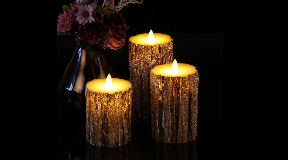 These super-realistic birch LED candles ($30)
