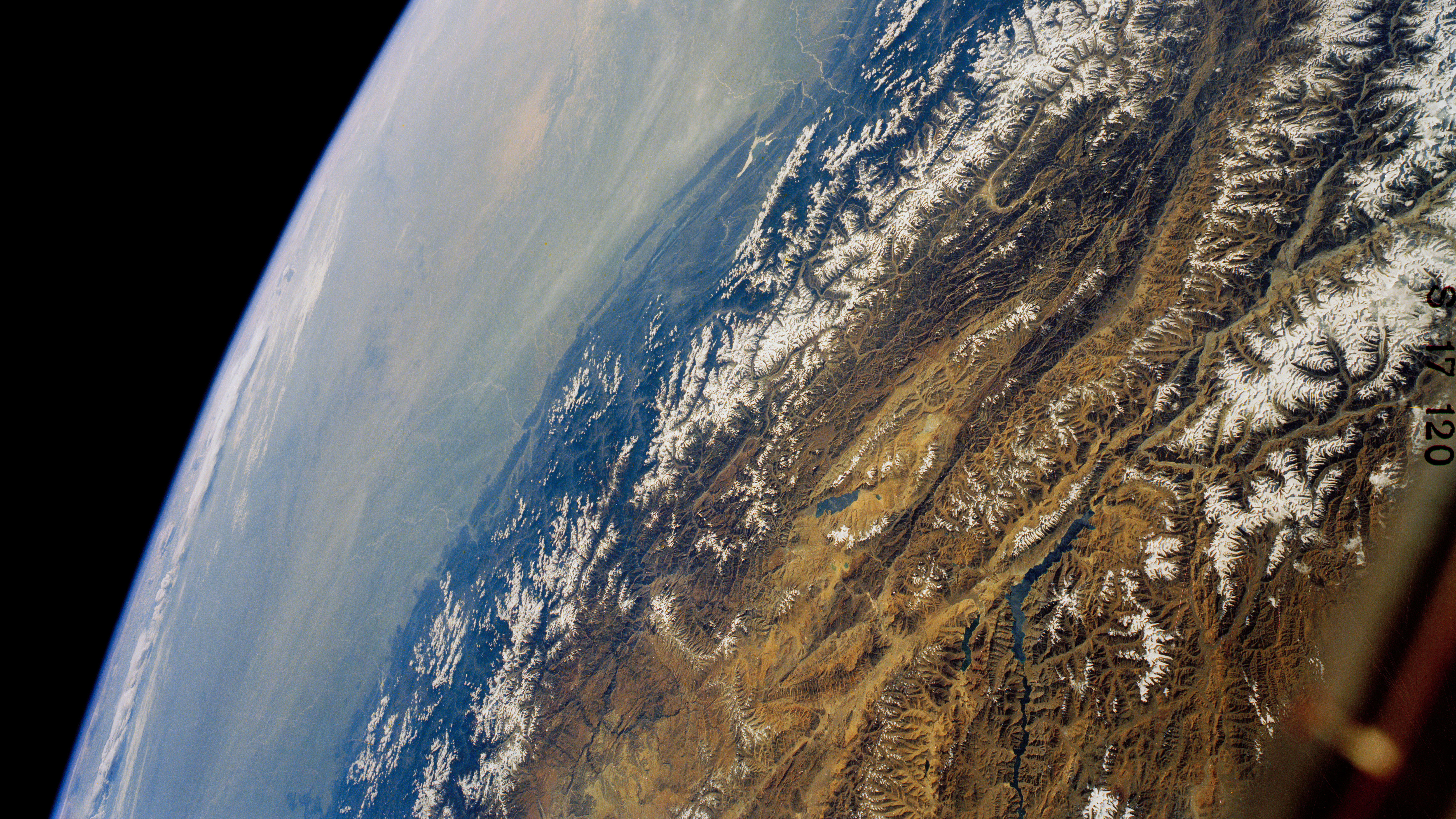View of the Himalayas from space