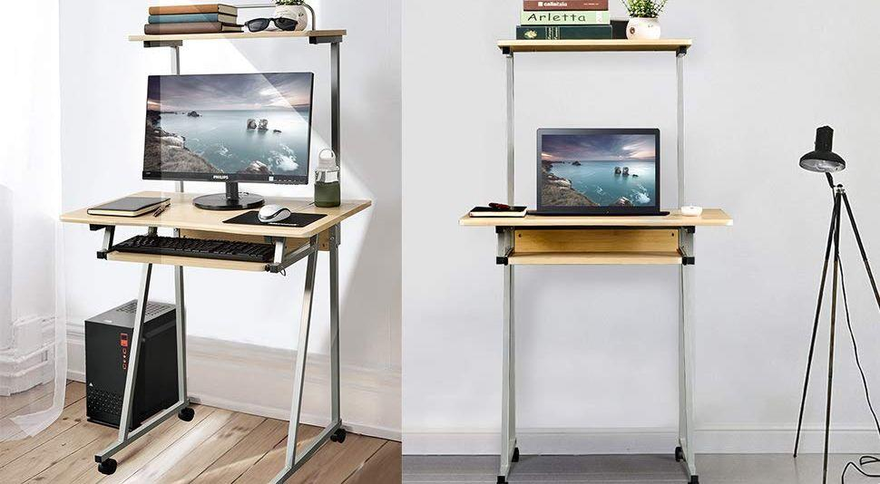 This Compact Rolling Computer Desk Is, Compact Computer Desk