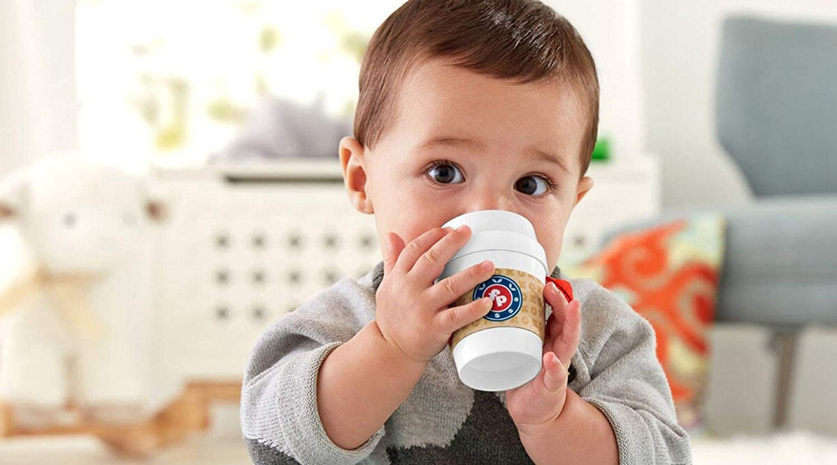 This Instagram-perfect coffee teether for baby