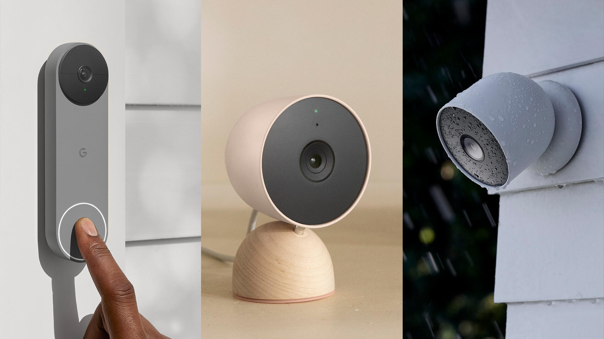 Google announces a new video doorbell and three new security cameras