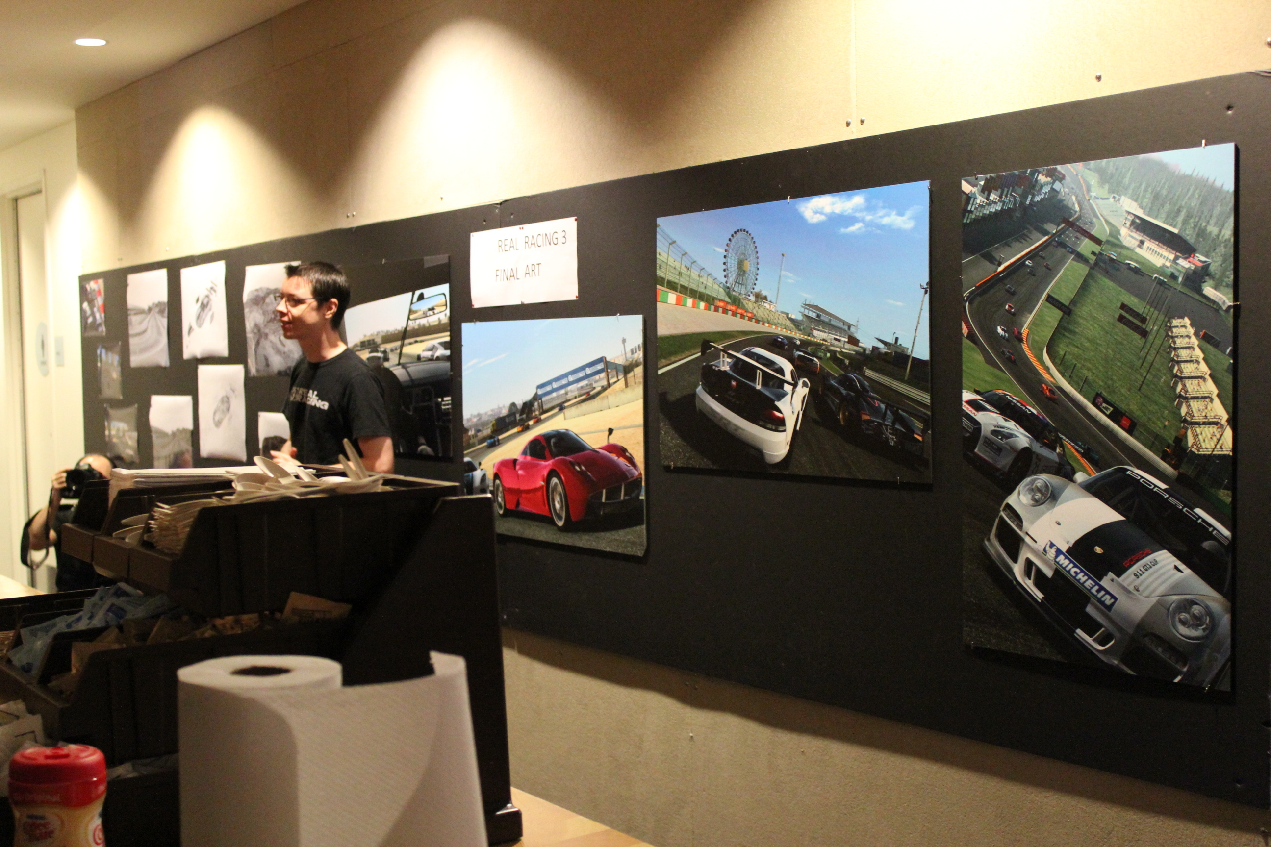 A wall of Real Racing imagery