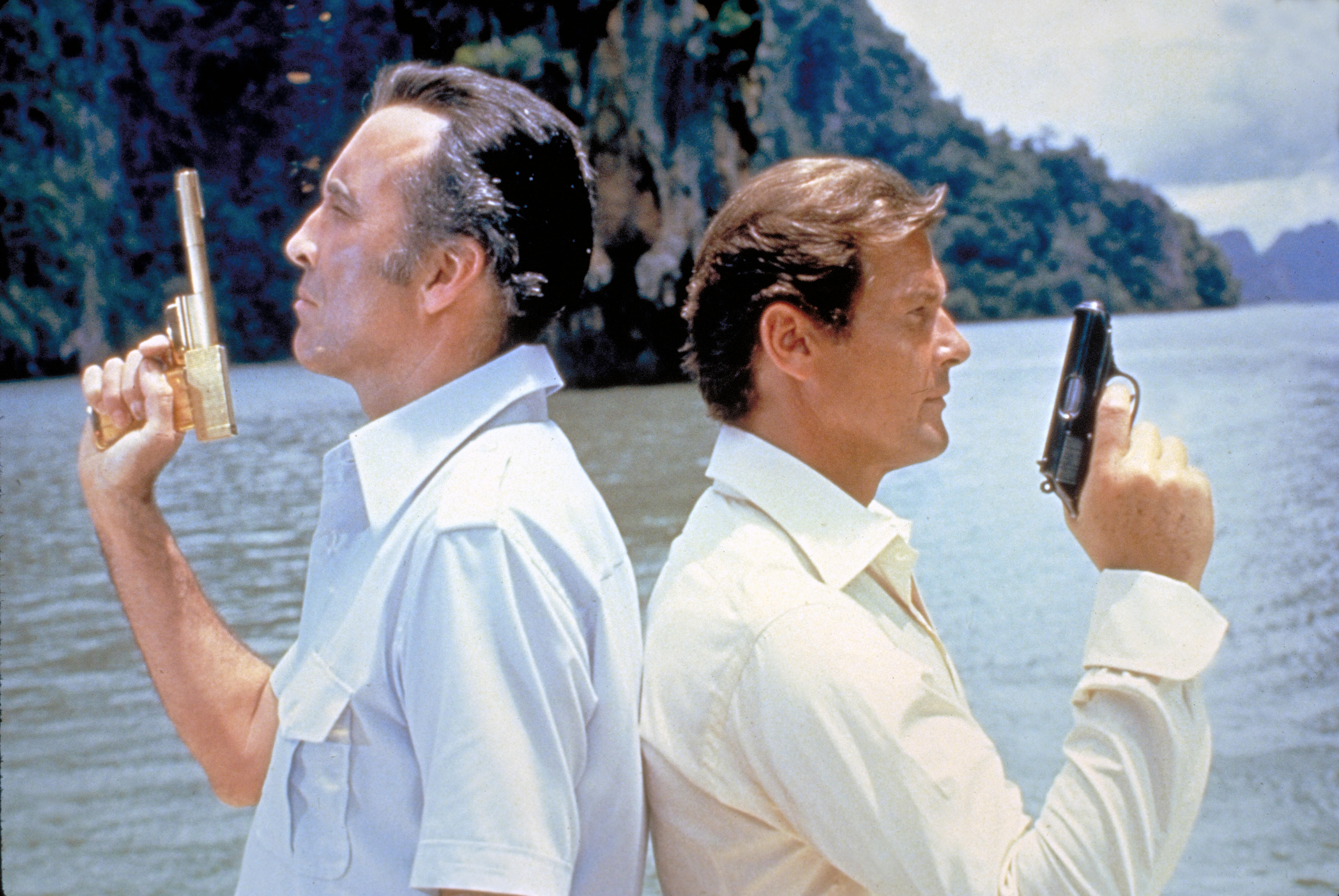 Scaramanga and James Bond in The Man With the Golden Gun