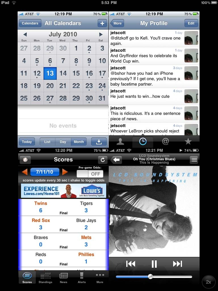 Running multiple iPhone apps at once