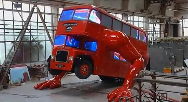 London Boosted bus art