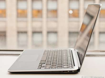 XPS 13 ultrabook is selling briskly, Dell says.  It uses both aluminum and carbon fiber -- making it light yet durable.
